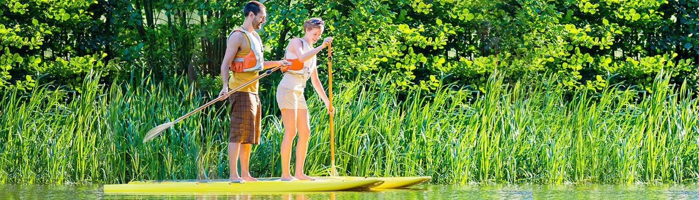 Standup Paddling am Olympiasee