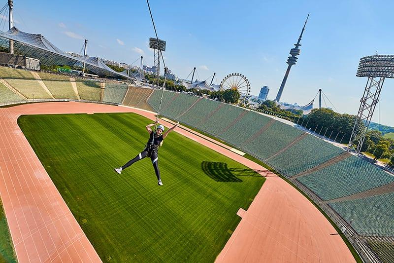 Flying Fox im Olympiastadion